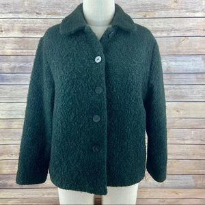 Eileen Fisher Wool Boucle Nubby Knit Jacket Coat